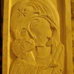 vierge de Vladimir   (tilleul 15x20)